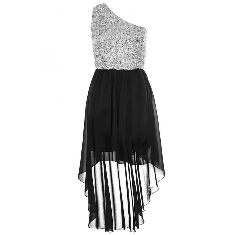 Black And White Dip Hem Dress Detail Dip Hem Dress For a